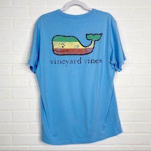 Vineyard Vines T-Shirt Pocket Tee Whale Men's Med